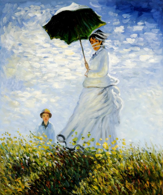 Woman Umbrella Monet Woman With Umbrella Turned