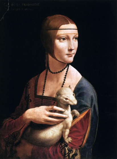 Sfumato Painting-Technique The Lady with the Ermine