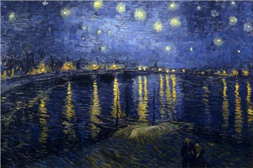 The Starry Night-Vincent Van Gogh Drawing Techniques