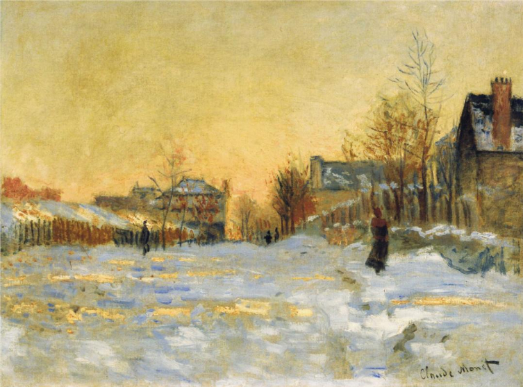 Claude Monet's Impressionism Painting Techniques-Snow Painting