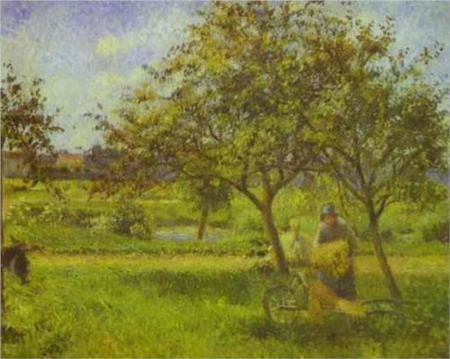 The Wheelbarrow Orchard Pissarro
